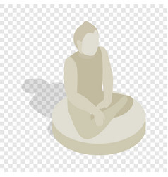 statue of buddha isometric icon vector image