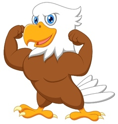 Strong eagle cartoon vector