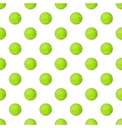 Tennis ball pattern cartoon style vector image