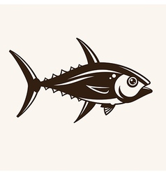 Tuna in one color vector image