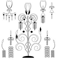 Vintage floral design element vector