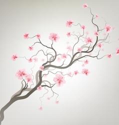 Background With Sakura Tree vector image