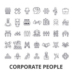 corporate people corporate identity business vector image vector image