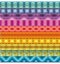 Geometric various strips motifs vector image