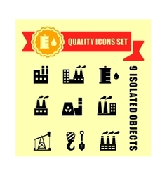 Industrial set with red tape vector