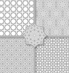 Seamless Islamic patterns set vector image vector image