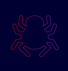 spider sign line icon with vector image