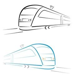 Train symbol vector image vector image