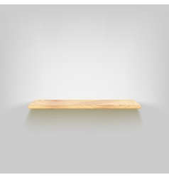 Wood shelf attached to the wall vector image vector image