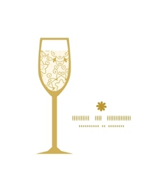 Abstract swirls old paper texture wine glass vector
