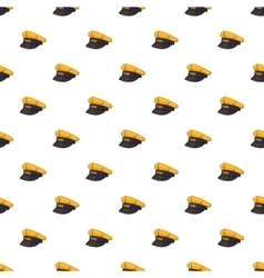 Cap taxi driver pattern cartoon style vector