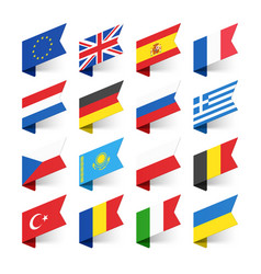 flags of the world europe set 1 vector image vector image