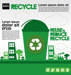 Recycle concept EPS10 vector image
