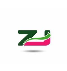 Alphabet Z and J letter logo vector image vector image