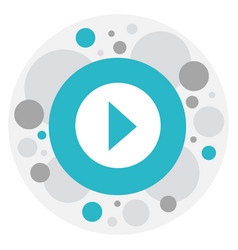of multimedia symbol on play vector image