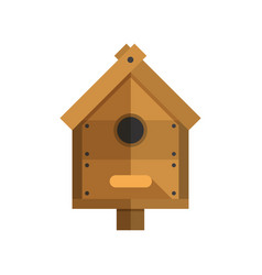 wooden nesting box icon vector image
