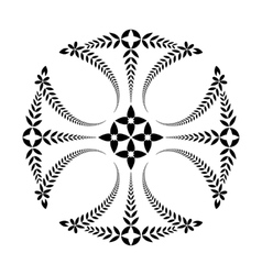 Laurel wreath tattoo Cross black ornament vector image vector image