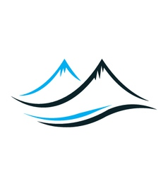 Mountains with steep peaks logo vector image vector image