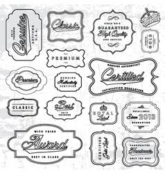 Outline label set vector
