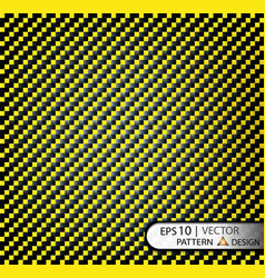 Pattern seamless carbon fiber yellow under vector