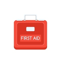 Red Plastic First Aid Kit Simplified Icon vector image vector image