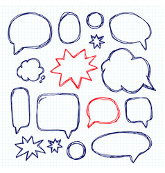 set picture blank template comic text speech chat vector image