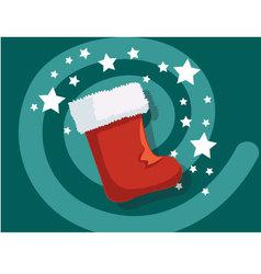 Sock icon christmas vector