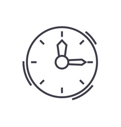 timeclock line icon sign on vector image