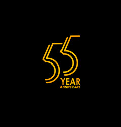 55 year anniversary celebration template design vector