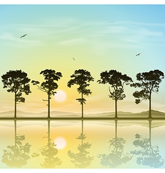 A Line of Trees vector
