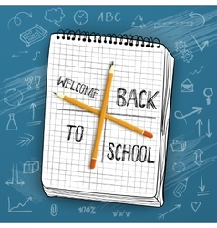 Back to School with Handdrawn vector image