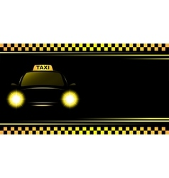 Background with taxi sign and cab vector
