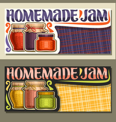 Banners for homemade jam vector