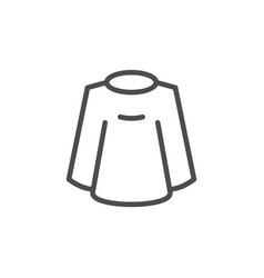 Barber cape line icon vector