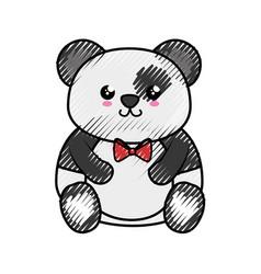 Bear panda kawaii cartoon vector