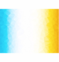 bright yellow blue low poly background vector image
