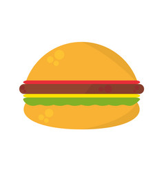 Burger fast food picnic vector