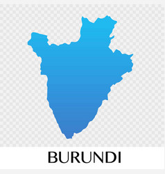 burundi map in africa continent design vector image