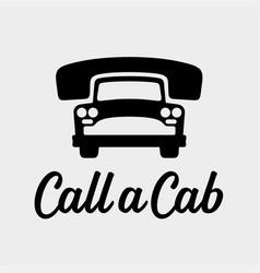 call a cab taxi service icon vector image