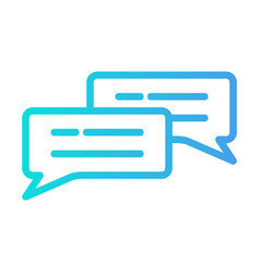 Chat icon in gradient style for any projects vector