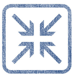 collide arrows fabric textured icon vector image