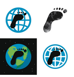 concept global carbon footprint vector image
