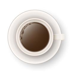 cup of coffee tea icon vector image