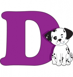 D is for dog vector