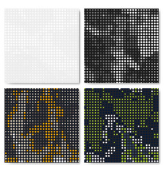 Dot seamless pattern set vector