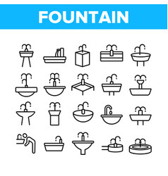 Drinking fountain collection icons set vector