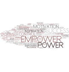 Empower word cloud concept vector