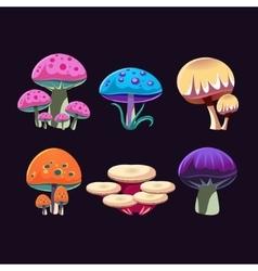 Fantastic Mushrooms Set vector