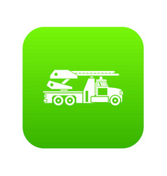 fire engine icon digital green vector image