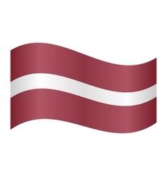 Flag latvia waving vector